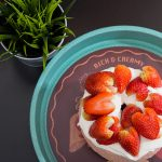 Angel Food Cake de fresa