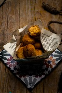 Croquetas de manteca colorada